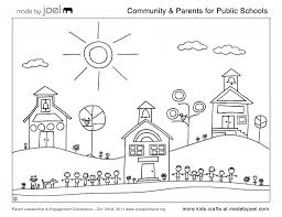 Awesome Public School Coloring Sheet From