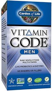 garden of life vegetarian multivitamin supplement for men vitamin code mens raw whole food vitamin with