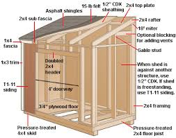 basic lean to shed construction diagram