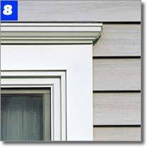 exterior garage door trim kit. vinyl crown molding kit for windows. also available from home depot. exterior garage door trim g