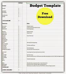 Template For Home Budget Setting Up Your Home Budget Free Download The Stay At