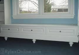 White Bedroom Builtin Storage Shelves, Custom Bedroom Window Seat Opens For  Storage