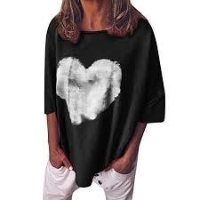 Twgone Crew Neck Three Quarter Sleeve Womens T Shirt Ladies