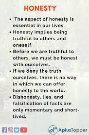 honesty essay essay on honesty for