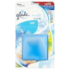 Glade Discreet Air Freshener Refill Clean Linen 12g at wilko.com