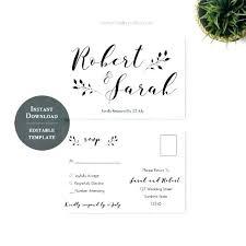 Postcard Wedding Invitations And Printable Invitation In