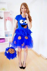 blue tulle cookie man dress
