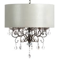 large ivory 5 arm crystal drop chandelier