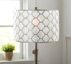 fascinating drum chandelier shades white plastic and gold motif pattern pentagon