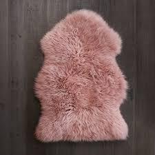 rose pink single sheepskin