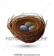 bird nest with eggs clipart. Unique Bird Clipart  Bird Nest With Eggs Fotosearch Search Clip Art Illustration  Murals On Eggs