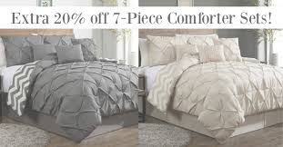 check it out pinch pleat comforter sets fabulessly frugal intended for set idea 9