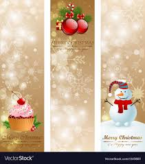 Christmas Vintage Vertical Banners Royalty Free Vector Image