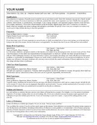 Resume For Nanny | Resume CV Cover Letter
