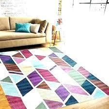 bright area rugs colorful wool multi color impressive contemporary red solid colored che