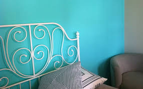 Teal Color Bedroom Teal Feature Wall Bedroom
