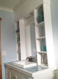 ana white vanity hutch with recessed lights diy projects desk bookcase kitchen hutch ana white