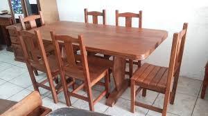 combo mesa algarrobo 1.60 mas 6 sillas rectas. Cargando zoom.