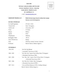 RESUME TENGKU SARAH SOPHIA BINTI SAIDI 278. KG. RAHMAT, FELDA CHALOK 21450,  ...
