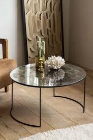 vintaged glass mirror iron round