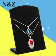 Black Velvet Jewelry Display Stands Free ShippingWholesale 100pcs New Black Velvet Necklace Easel 76