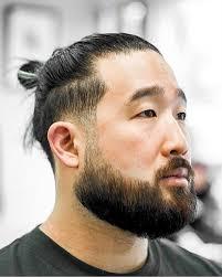 Coupe de cheveux asiatique homme coupe de cheveux asiatique homme. 21 Styles De Chignon Homme Gardez Vos Cheveux Longs Tires En Arriere Look Elegant Coiffures Pour Hommes