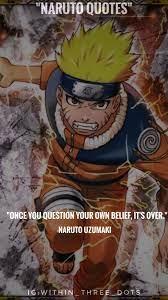 NARUTO QUOTES|NARUTO UZUMAKI|ANIME|within_three_dots | Naruto quotes, Naruto  uzumaki anime, Anime