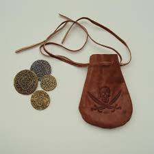 pirate coins leather pouch great accessory for any costume treasure chest 5049 p jpg