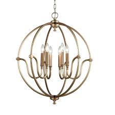 6 light chandelier dsi led costco vineyard metal and wood with seeded glass shades heritage home