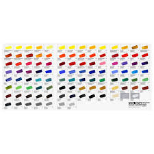 Golden Heavy Body Hand Painted Colour Chart