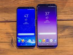 samsung galaxy phone. samsung galaxy s8 and plus front phone