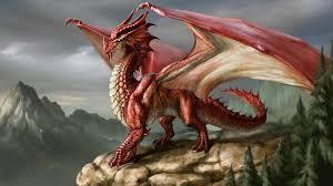 full hd wallpaper red dragon rock