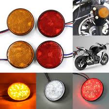 bjmoto motorcycle atv truck car auto emark tail rear bumper brake stop turn signal light reflector led warning lights