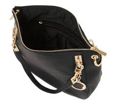 st tropes black italian leather shoulder bag