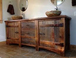 Bathroom Unfinished Wood Rustic Bathroom Vanity Design With