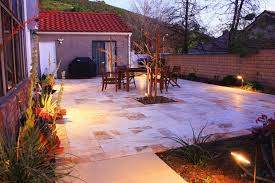 consider porcelain or travertine pavers for your southern california patio or walkway