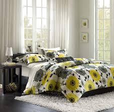 quilt sets superior bedding flowers shades yellow black white colored combine in shades with square