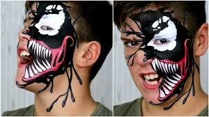 venom black spiderman makeup face painting for kids you