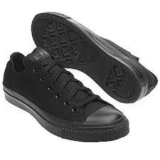 converse shoes black. converse black/black men\u0027s chuck taylor all star lo shoe shoes black