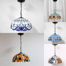 North European Style Brief Tiffany Lamp BAR Stained Glass Pendant Lamp  Restaurant Suspension Lamp Kitchen Dining