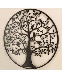 metal tree circle wall art