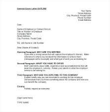Outline Of Good Superb Cover Letter Outline Sample Resume Template