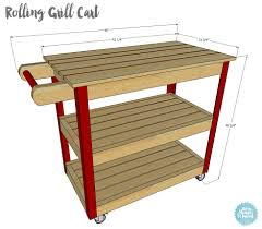 how to build a diy rolling grill cart free plans and tutorial