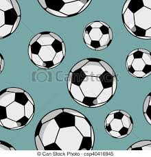 Soccer Ball Pattern Adorable Soccer Ball Seamless Pattern Sports Accessory Ornament Football