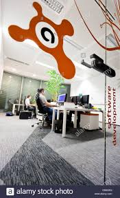 software company office. The Software Development Office Of Avast A.s At Company Headquarters In Prague, Czech Republic. A