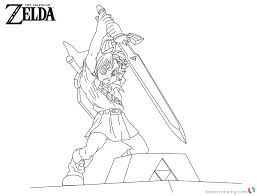 Legend Of Zelda Twilight Princess Coloring Pages Page Download This