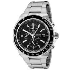 top men watches seiko men s snad83 chronograph black dial seiko men s snad83 chronograph black dial stainless steel alarm watch