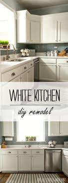 Diy White Kitchen Cabinets Builder Grade Kitchen Makeover With White Paint