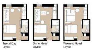 very small apartment layout