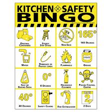 Small Picture Kitchen Safety Bingo